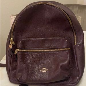 Coach Burgundy Backpack!